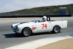 John Morton's 1964 Sunbeam Tiger in turn eleven.
